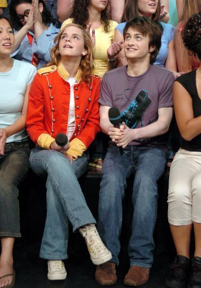 With Daniel Radcliffe on TRL