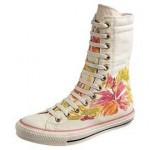 Emma Watson's Extra High Floral Chucks