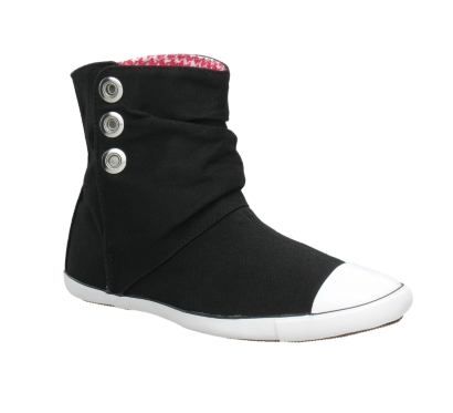 Converse Women's Chuck Taylor Light Canvas Ankle Boot Black