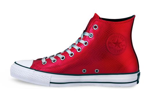 df453dd3b0d9 Green and Red Metal Python Converse Chuck Taylor Hi Tops