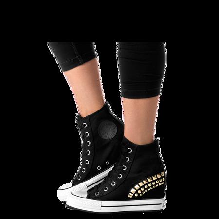 Black Chuck Taylor Patform Wedge Women Shoes Women Chuck Taylor Platform Wedge