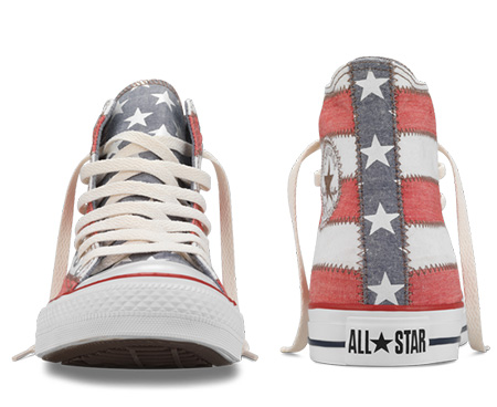 Chuck Taylor American Flag Hi - Front and Rear View