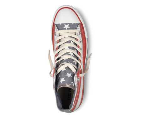 Chuck Taylor American Flag Hi Top View