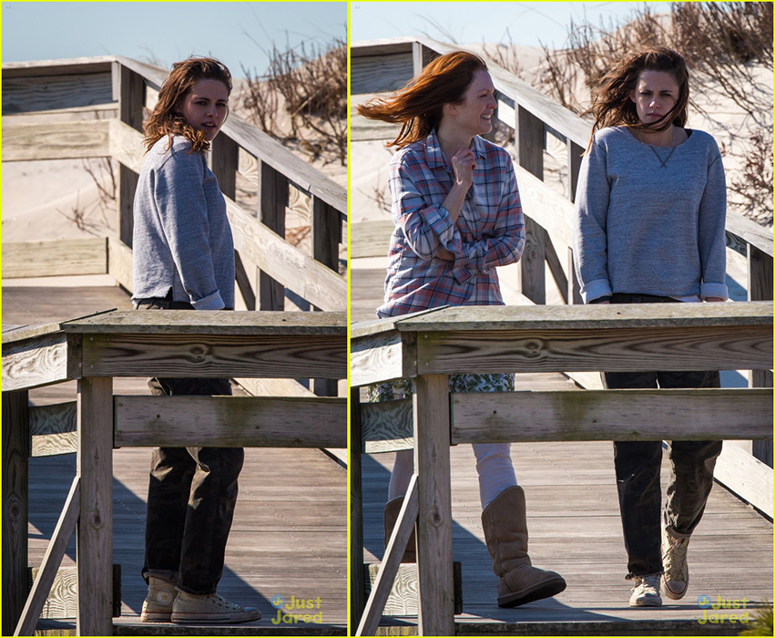 Kristen Stewart in Shabby White Hi Top Chucks