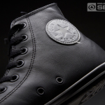 Black Chuck Taylor All Star Slim Leather Trainer for Men