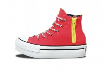 Inner Side of Diva Pink High Top Converse