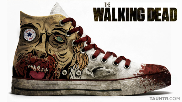 3ed75a3fa2d1 Dexter-inspired chucks Walking Dead Themed Chuck Taylor