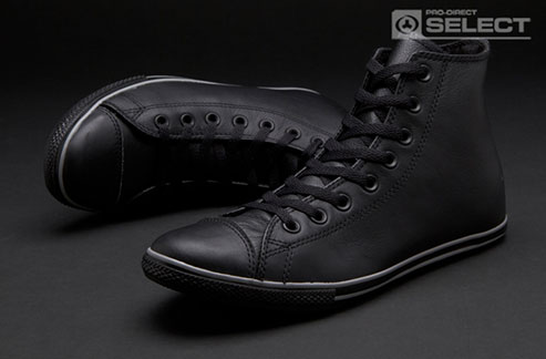 Black Converse All Star Slim Leather High Top