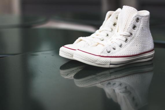 Knitted White High Top Womens Converse Chuck Taylor All Star