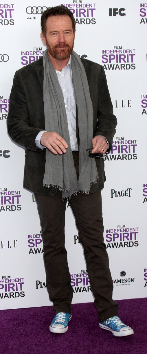 Breaking Bad's Bryan Cranston wearing Chuck Taylors at Independent Spirit Awards