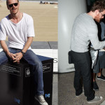 Michael Fassbender and His Gray Converse
